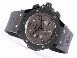 Perfect Fake Hublot Big Bang Chronographe Asie Valjoux 7750 Mouvement PVD AAA Montres [ U4H5 ]