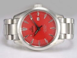 Faux populaire Omega Seamaster Aqua Terra Big Taille automatique avec Red Dial AAA Montres [ O7D2 ]